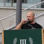 Matthias Bauerfeind als Redner. Foto: Jan Nowak