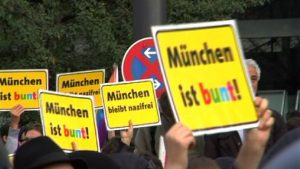 Protest in München