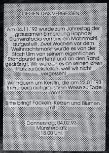 Flugblatt von 1993 [Archiv Robert Andreasch]